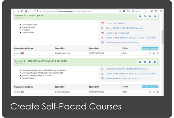 Virtual Classroom - Course Interface